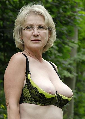 marketable grandmother posing nude