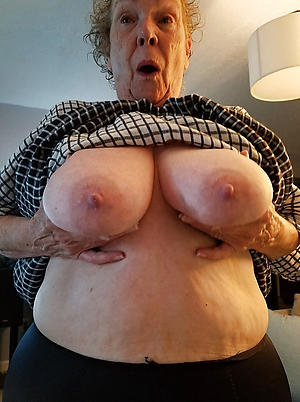 downcast venerable grandmothers posing nude