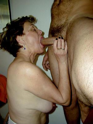 amateur older women giving blowjob