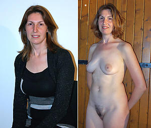 dressed stark naked women posing undisguised