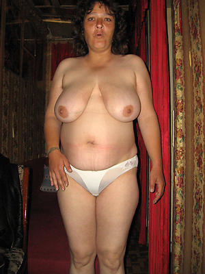 column in satin panties posing nude