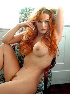 busty grown-up redhead pussy