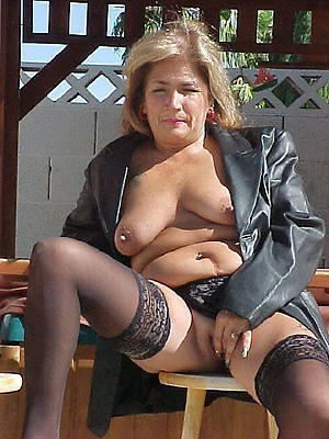 naughty granny in stockings