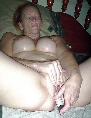 sweltering old lady masturbates