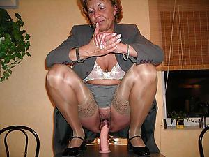 sexy old lady masturbates