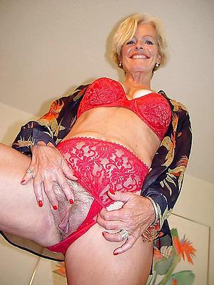 mature sexy ladies love posing shorn
