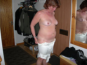 old adult wife posing nude