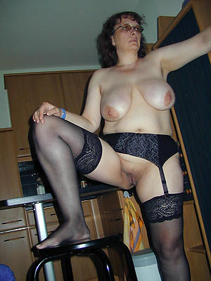 nude pics of grannies in stockings