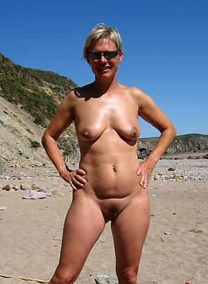 nice older women on the beach porn pic