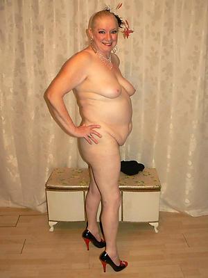 nude older women in heels