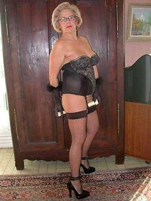 old women in lingerie