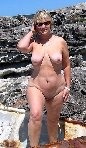 sexy granny outdoors