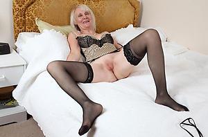 horny grey ladies in stockings
