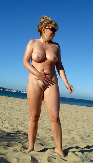 nude pics be advisable for old lady on beach