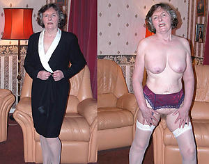sexy granny dressed and undressed pics