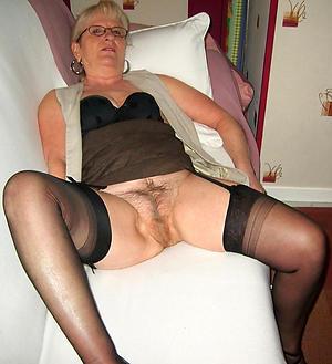 Stocking granny pics