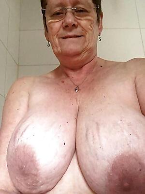 Old granny boobs
