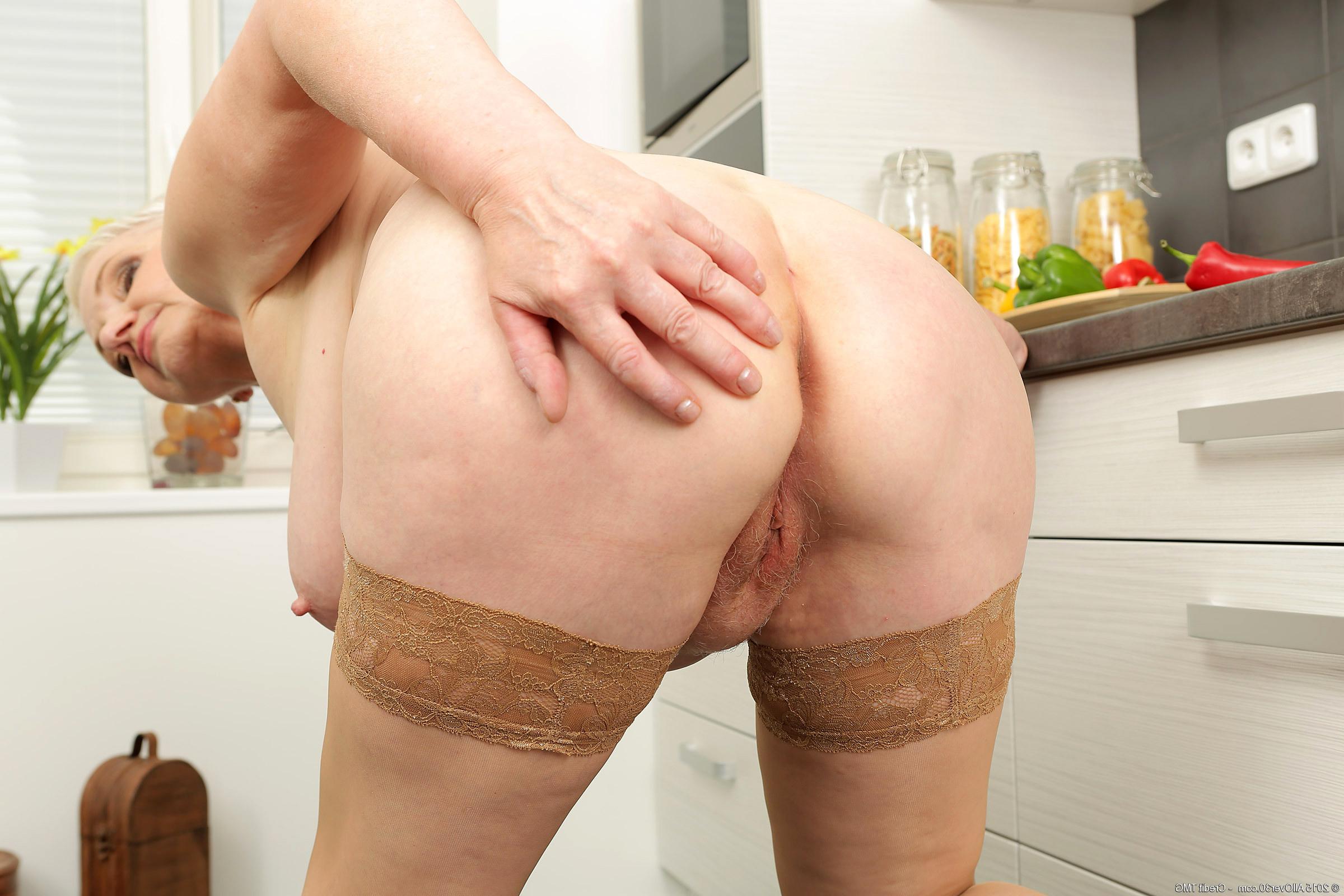 Licking naked big tits