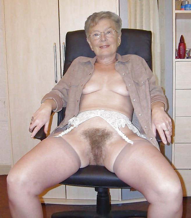 Hairy granny nude
