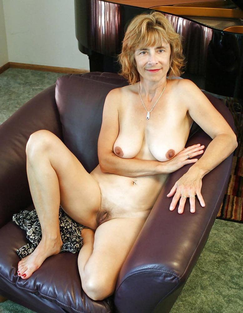 Nude older woman